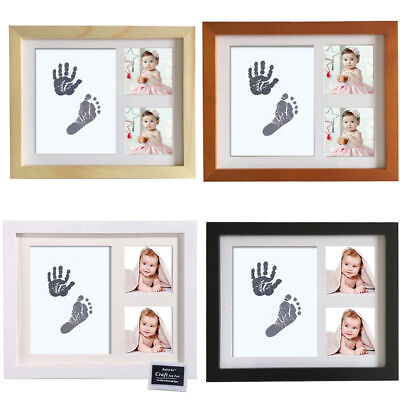 IM- Newborn Baby Handprint Footprint Photo Frame Kit Non-Toxic Touch Ink Pad Fas
