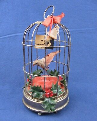 "Vintage 1960's Schmid Bros Musical Automaton - 12 Days of Christmas - 8""H"