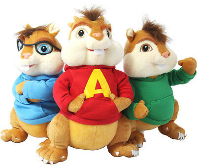 Alvin and The Chipmunks Theodore Simon Plush Soft Stuffed Animal Doll Toy Gift
