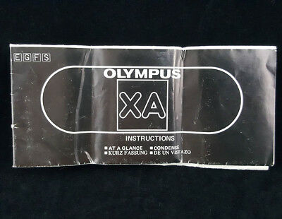 Olympus XA Camera Instruction Book Manual User Guide 4 Language: ENG FRA GER SPA