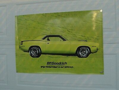 Original 1994 B F Goodrich Advertising Poster HemiCuda Two Foot by Three Foot