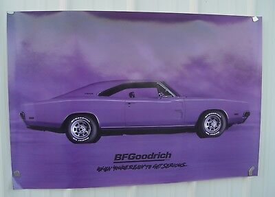 Original 1994 B F Goodrich Advertising Poster Hemi Charger 500 Two Foot by Three