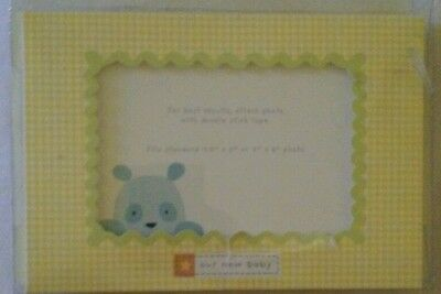 """Carter's """"Our New Baby"""" Birth Announcements Cards Baby Boy 4x6 Photo Insert"""