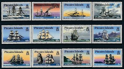 1988 Pitcairn Island Ships Definitives Set Of 12 Fine Mint Mnh