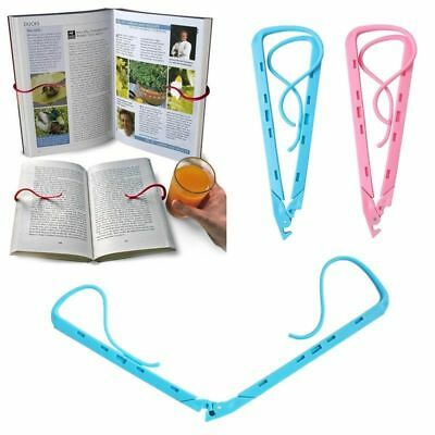 1X Hands Free Travel Reading Holiday Book Holder Holds Pages Open Clip Hot