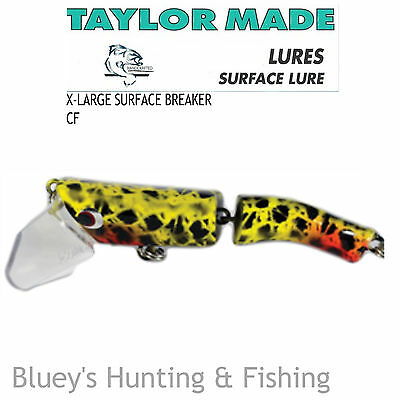 Taylor Made X-Large Cod Barra surface breaker articulated Lure;col CF