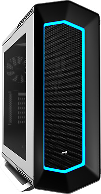 Genuine Aerocool P7-C1 Gaming Case 8 Color LED Tempered Glass Black Mid Tower