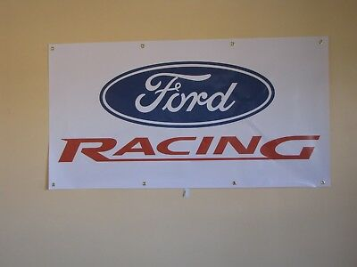 Ford Racing PVC Vinyl Banner Flag Poster Sign 1000x1800mm