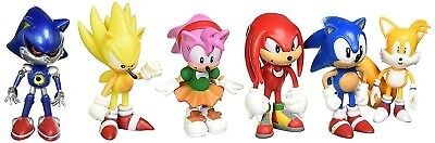 Sonic the Hedgehog 6 Piece Action Figure Set - Birthday Cake Toppers Party Favor