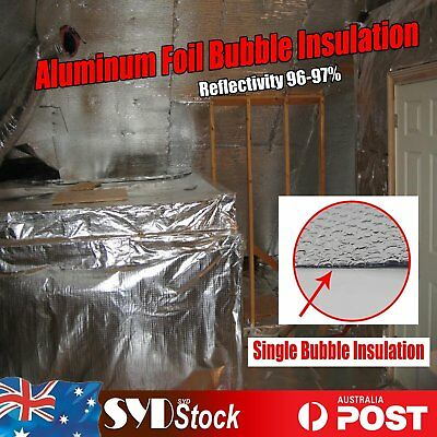 Reflective Foil Insulation Material Single Bubble Shed Loft Garages Caravan Home