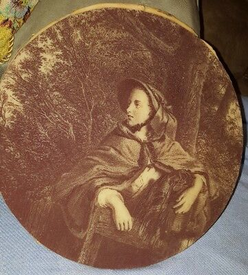 Vintage Ornate Plaster/Wall Hanging or Plaque/ rehab or reframe woman grieving
