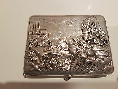 Imperial Russian Silver 84 Cigarette Case. Stamped. HEAVY 313.3g.