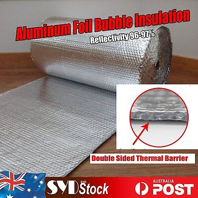Radiant Barrier Foil Insulation Materials Double Bubble Reflective Loft Caravan