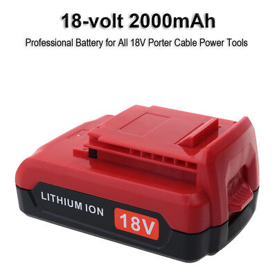 New for Porter Cable 18V PC18B PC18BL PC18BLX 18V 2000mAh Lithium ion Battery