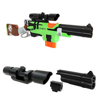 MaLiang 3D Print Shotgun Barrel Scope Sight Black Combo for Nerf SlingFire MOD