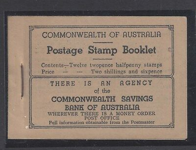 "Australia 1942 KGVI 2/6d Scarlet Booklet of Stamps ""wax interleaves"" (ACSC B54)"