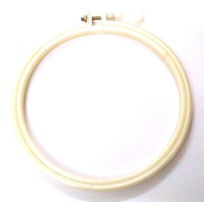 "5.5"" Plastic Hoop Ring Cross Stitch Sewing Hand Machine Embroidery Needlework 1"