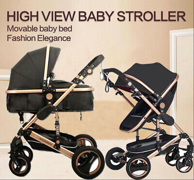8 in 1 Baby Stroller Travel System high view Pram jogger Carriage Fold Pushchair