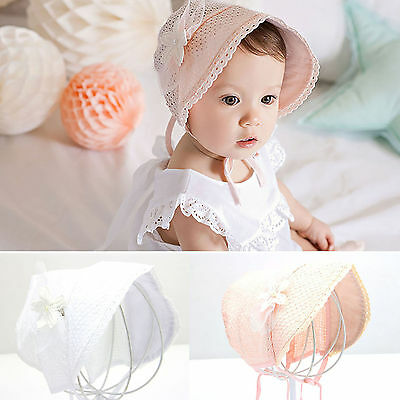 Newborn Infant Beach Bucket Hat Baby Girl Boy Sun Summer Cap Lace Bonnet Hat