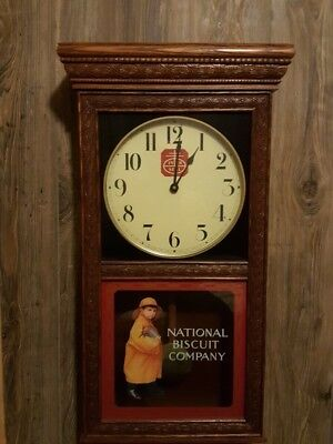 NABISCO chime wall clock made by Wisconsin Clock Company