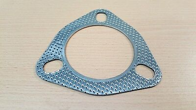 72mm 3 pin / bolt performance exhaust gasket - universal / aftermarket - PBK372