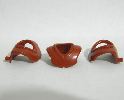 Playmobil  3pcs  Brown Chest Neck Shields Armor - Accessories
