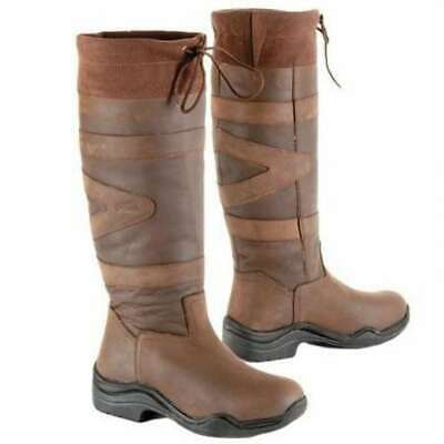 Toggi Canyon Leather Boot. Equestrian Country. Choc Brown Wide Leg Fitting