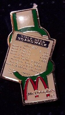 Original Mcdonald Mcdonald MCD PIN Badge-/McDonald /Title Deed Board Walk