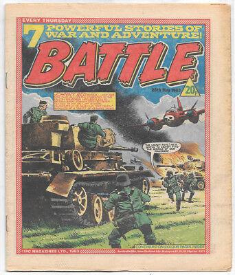 Battle 28th May 1983 (top grade) Charley's War, Invasion 1984, Johnny Red