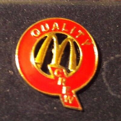 Original Mcdonald Mcdonald MCD PIN Badge-/McDonald /Quality Crew