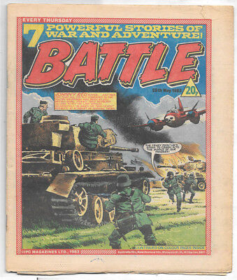 Battle 28th May 1983 (high grade) Charley's War, Invasion 1984, Johnny Red