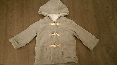 Boys thick fleeced hooded cardigan 12-18 months