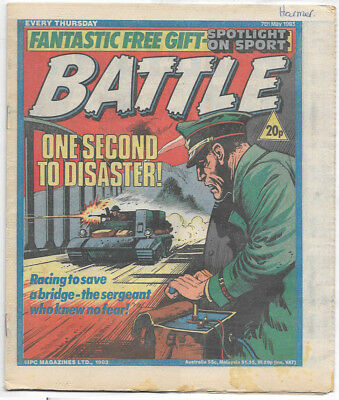 Battle 7th May 1983 (high grade) Charley's War, Invasion 1984, Johnny Red