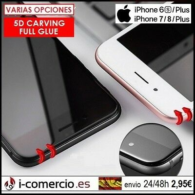 Protector Pantalla Camara Cristal Templado 9H Apple Iphone 6 / 6S / 7 / 8 Plus +