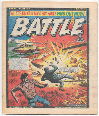 Battle 16th April 1983 (top grade) Charley's War, Invasion 1984, Johnny Red