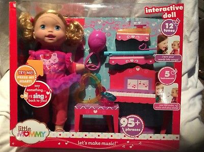 Little Mommy Let's Make Music Doll Interactive doll 12 tunes 95 phrases New