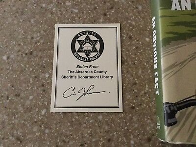 NEW! Walter Walt Longmire Sheriff Book Plate Sticker Bookmark Netflix TV Show