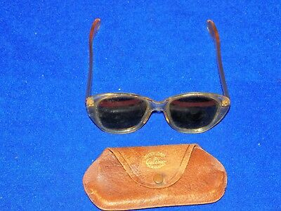 Vintage, American Optical CALOBAR, Sunglasses with leather case