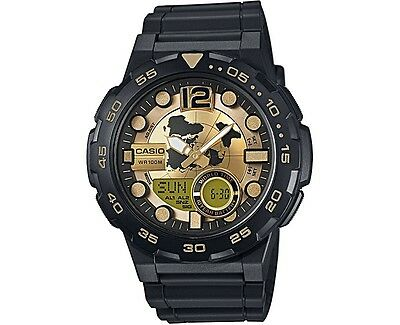 Casio AEQ100BW-9AV Digital/Analog Combo 3 Alarms 30 Telememo Resin Men's Watch