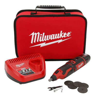 Milwaukee 2460-21 12 Volt M12 Cordless Rotary Tool Kit New