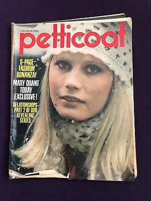 "Teenage Girls Magazine ""PETTICOAT"" 2nd May 1970 Fashion Music MARY QUANT"