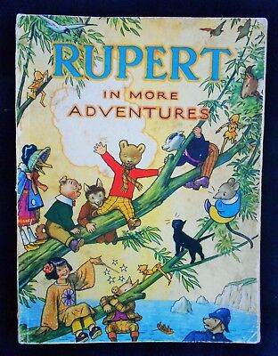 Rare Vintage Original 1944 Rupert Bear Annual, Price Unclipped 3/6