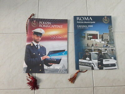 Polizia Locale - Calendari - Roma Capitale -  Police - City Of Rome - Calendars