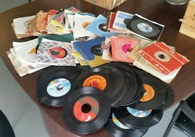 Awesome Lot Of 150 45Rpm Records-  Vinyl- Records