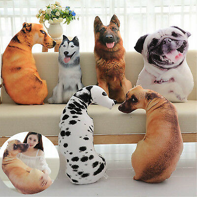 40cm Creative 3d Dog Pillow Doll Animal Plush Toys Dolls Stuffed Animal Pillow Sofa Car Bolster Home Decoration Toys & Hobbies