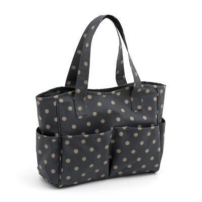 Hobby Gift 'Charcoal Polka Dot' Craft Bag 12.5 x 39 x 35cm