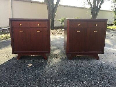 Mid Century Modern Mahogany Night Stands,End tables  - Pair