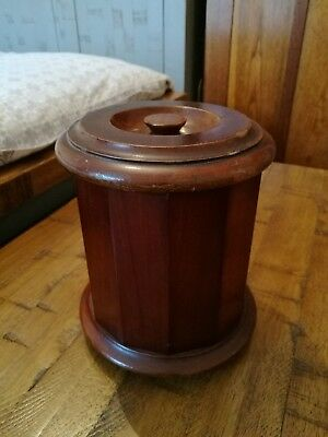 Vintage Dunhill wooden tobacco jar late 19th to early 20th century