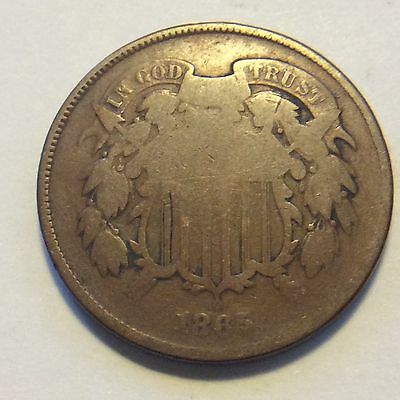 1865 Two Cent Piece  Free Shipping H152