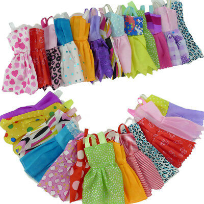 20pcs outfit for Barbie Doll Chirstmas Gift Fashion Handmade Party Clothes Dress
